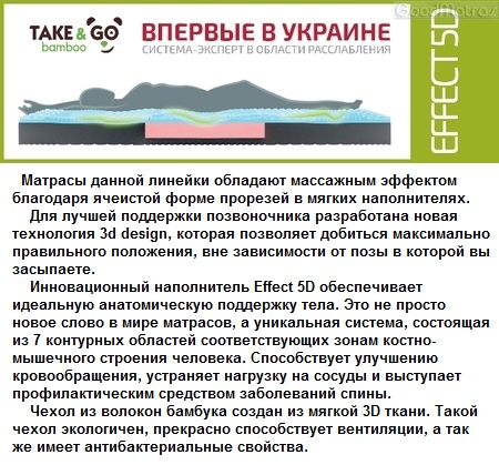 Матрасы Take&Go Bamboo купить Киев - СКЛАД - АКЦИЯ
