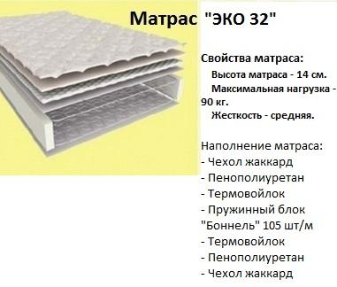Ортопедический матрас Эко 32